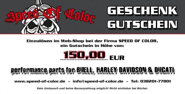 Geschenkgutschein 150 Euro