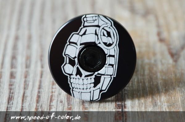 Lenker End-Cap-FLAT-skull-grenade