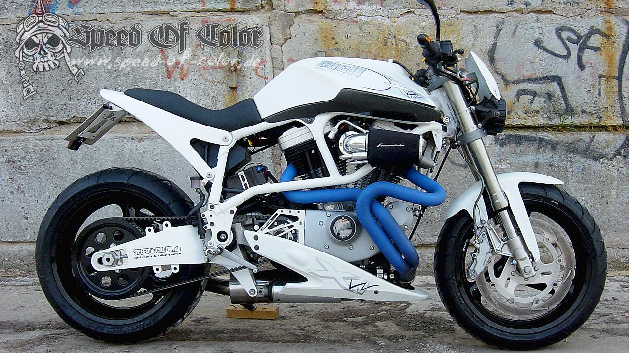 Buell X1 White Lightning – Idea di immagine del motociclo